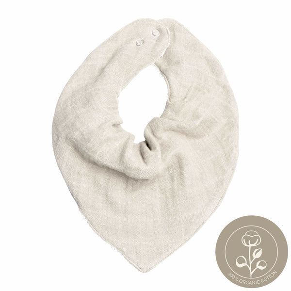 Bandana Bib - Single - Natural