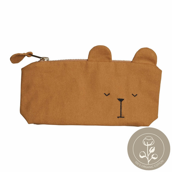 Pencil Case - Bear - Ochre
