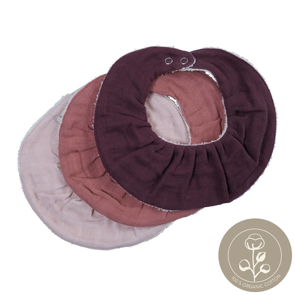 Ruffle Bib - 3 Pack - Berry