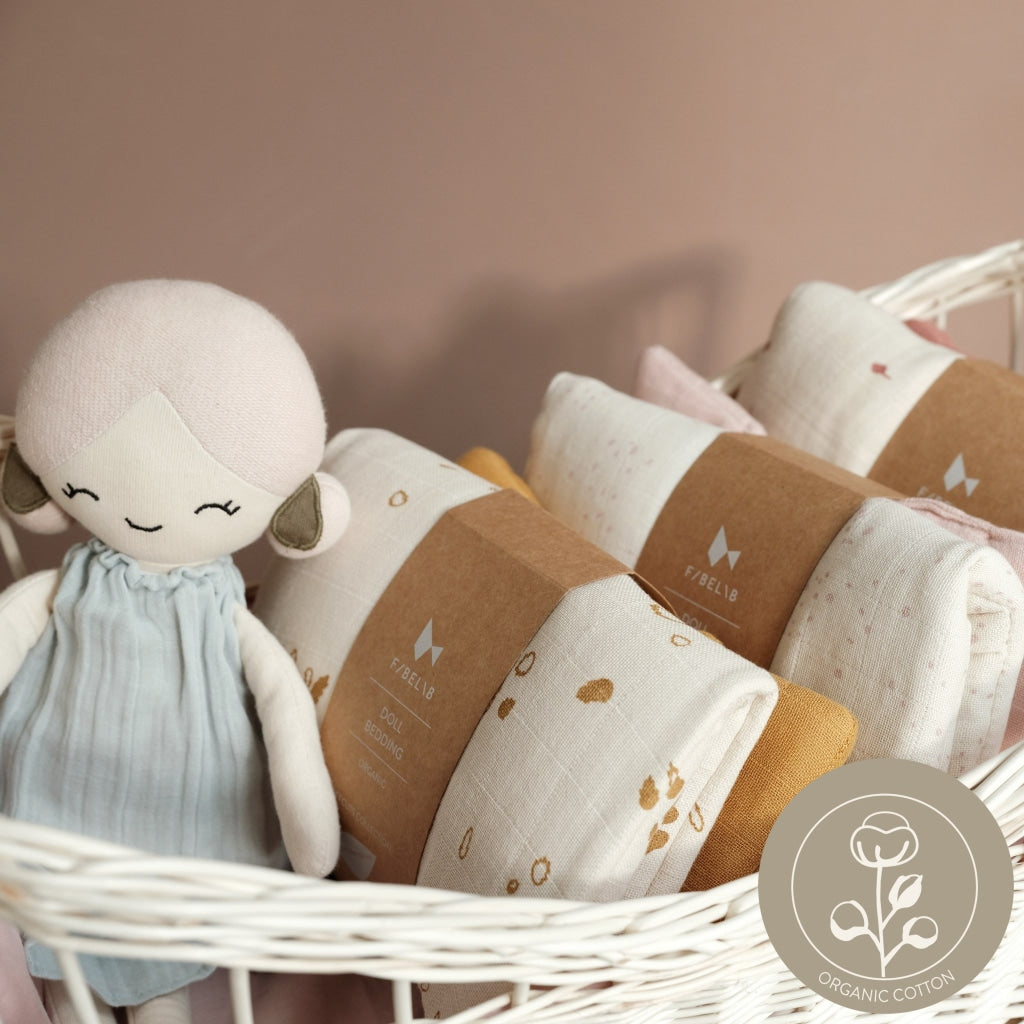 Doll Bedding - Pram - Rainbow Sky