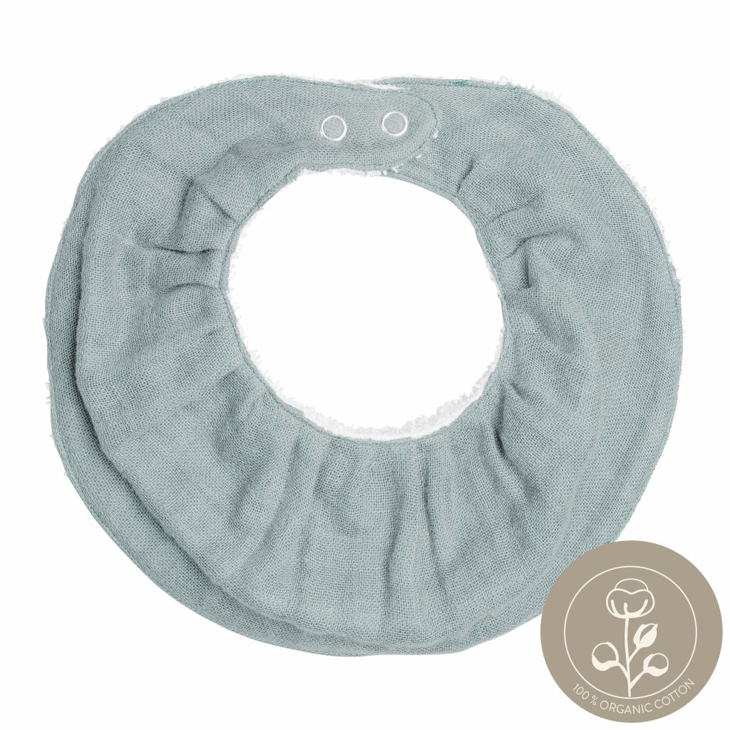 Ruffle Bib - Single - Foggy Blue