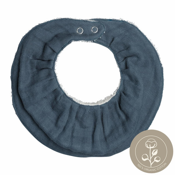 Ruffle Bib - Single - Blue Spruce