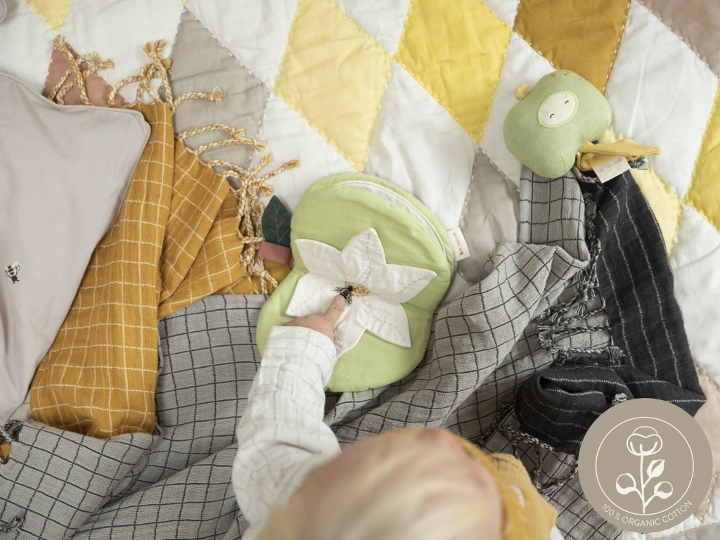 Baby Blanket Grid Organic Sustainable