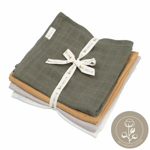4-pack muslin cloth from fabelab