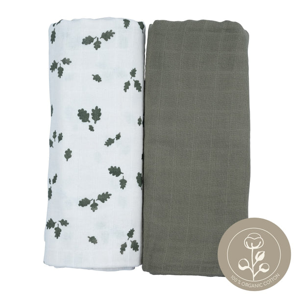 Swaddle - 2 Pack - Oak Leaf