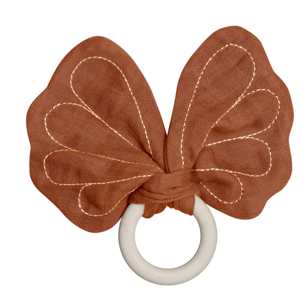 Teether - Butterfly - Cinnamon