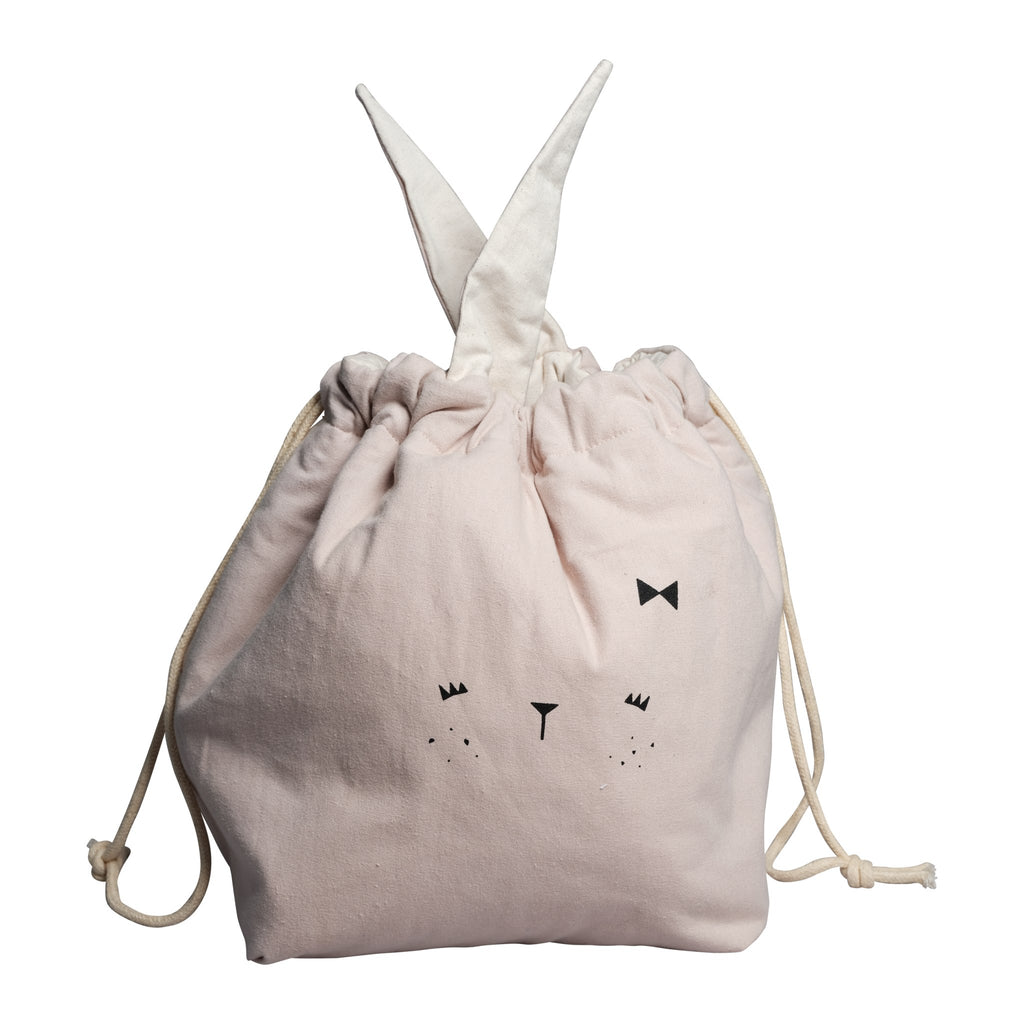 Storage Bag - Small - Bunny - mauve
