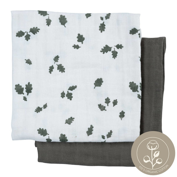 Muslin Cloth - 2 Pack - Oak Leaf