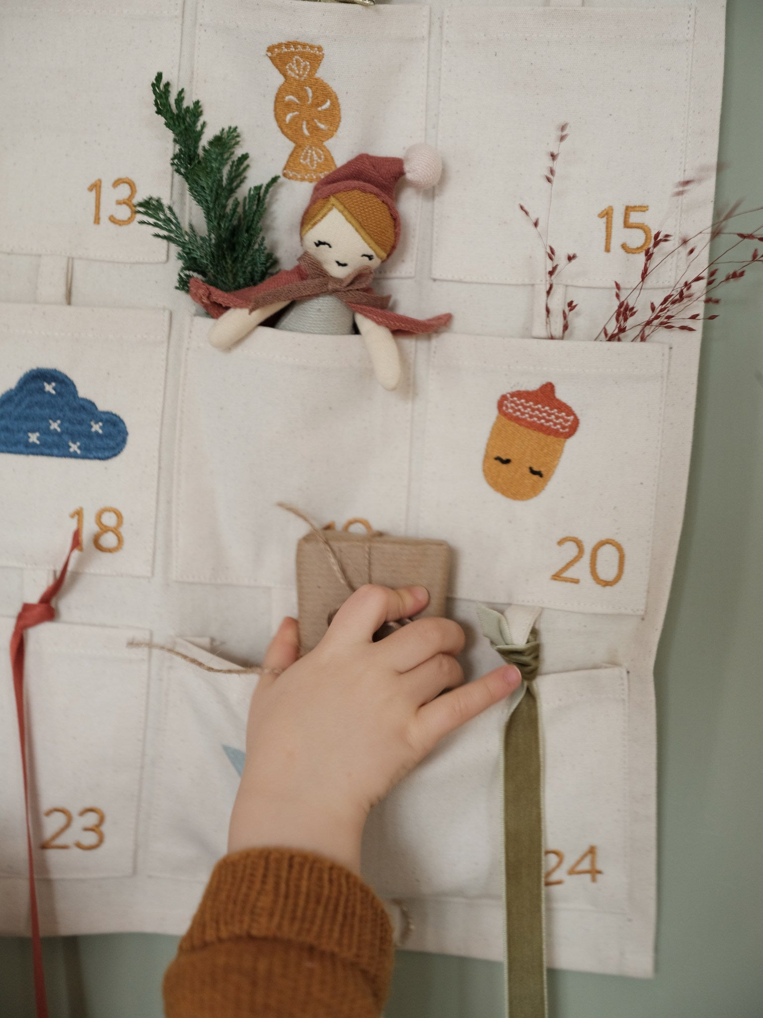 Wall Calendar - Embroidered