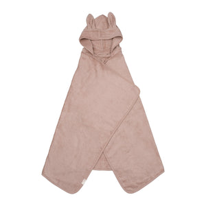 Hooded junior towel bunny old rose color
