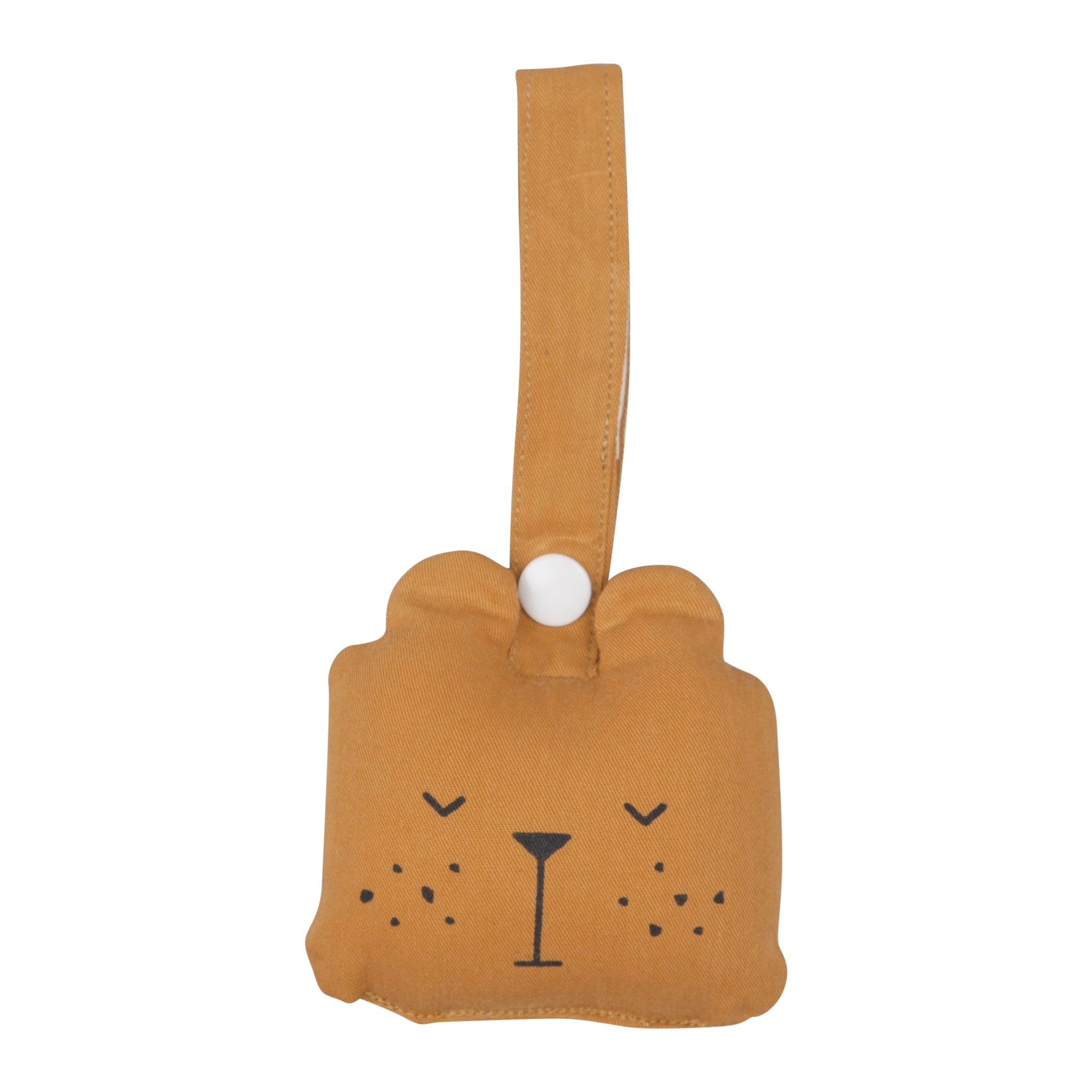 Animal Rattle- Bear- ochre