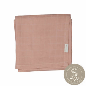 Rose muslin cloth organic cotton fabelab