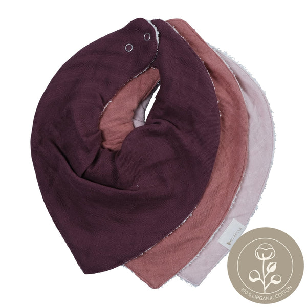 Bandana Bib - 3 Pack - Berry