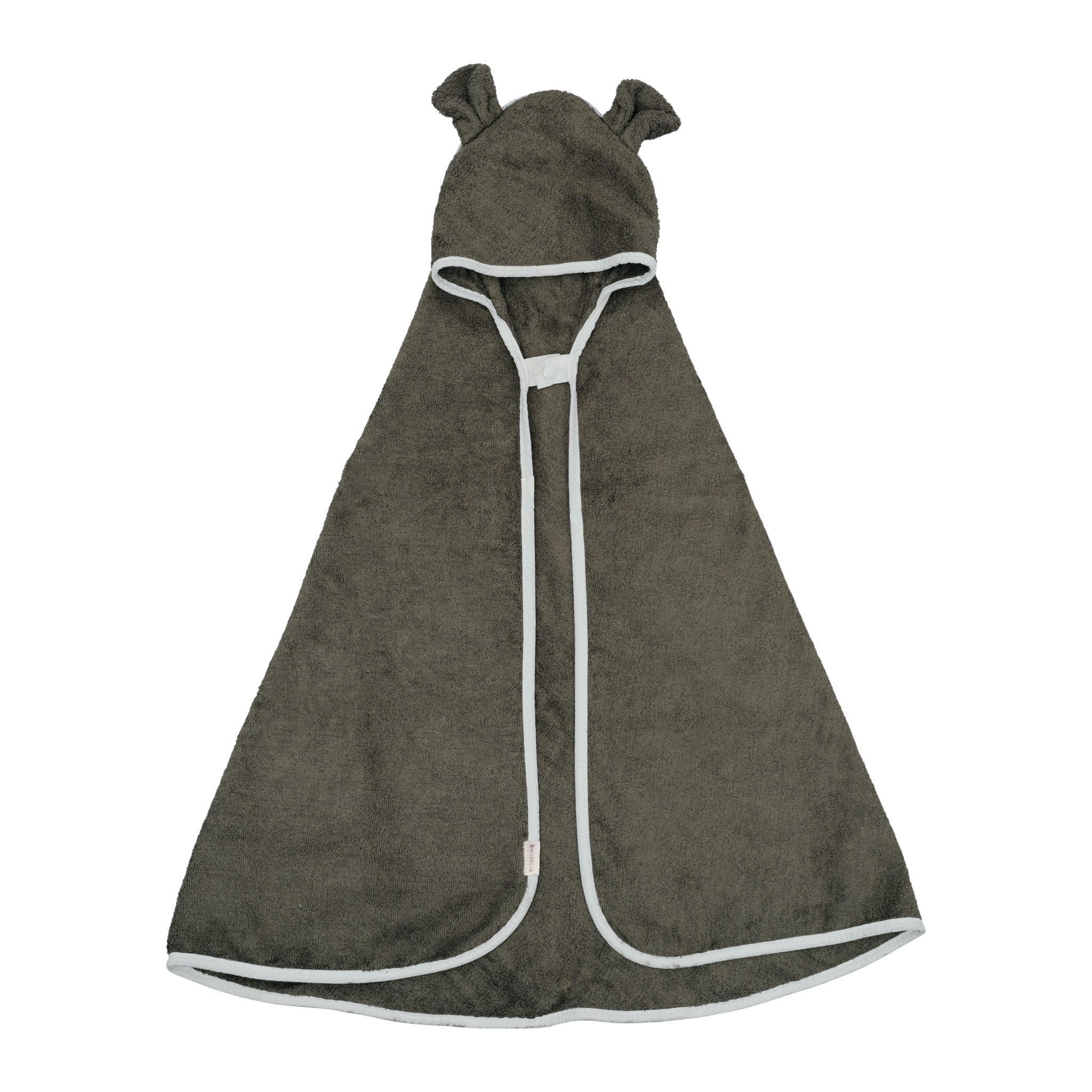 Hooded Baby Towel - Bear - Olive