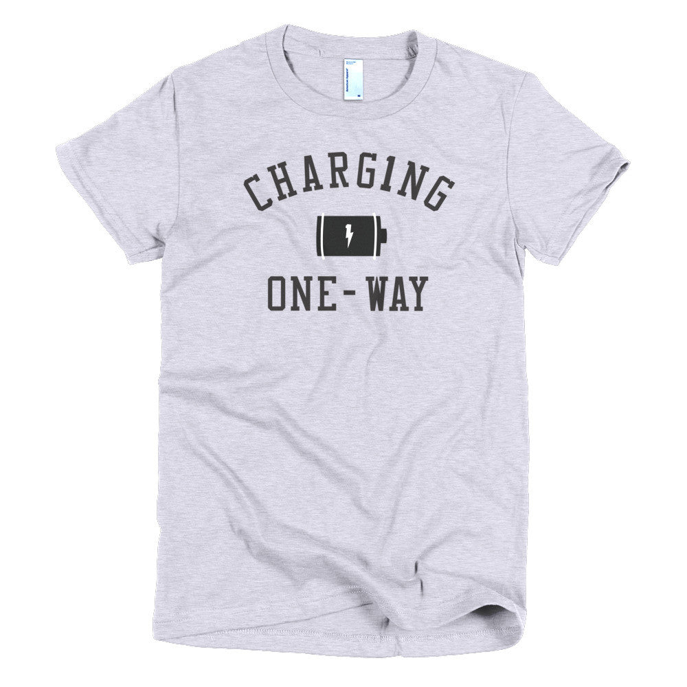 CHARG1NG ONE-WAY CLASSIC WOMENS BLACK TEE