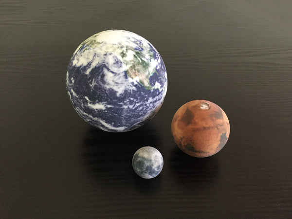 Earth, Mars & Moon to scale – LittlePlanetFactory