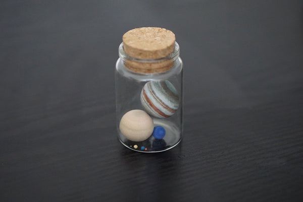 Solar System in a Bottle (to scale)