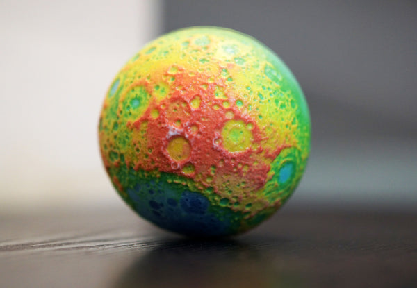 False colour topographic Moon (elevation)