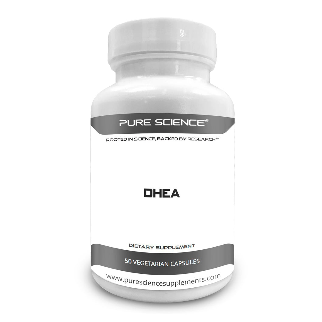 Pure Science DHEA 100mg with 5mg BioPerine  50 Vegetarian Capsules