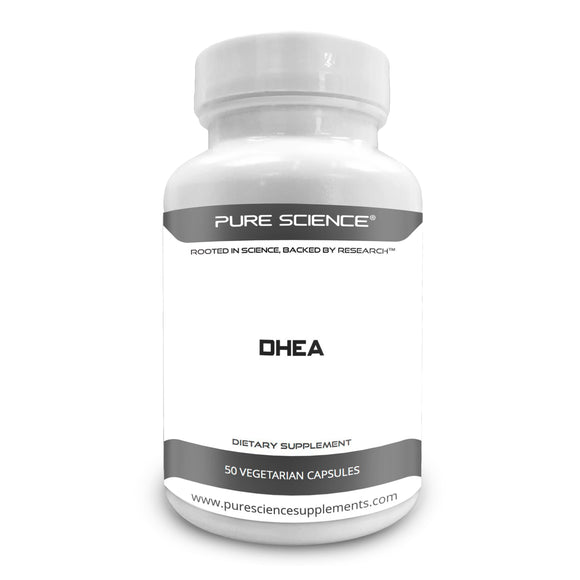 Pure Science DHEA 100mg with 5mg BioPerine – 50 Vegetarian Capsules