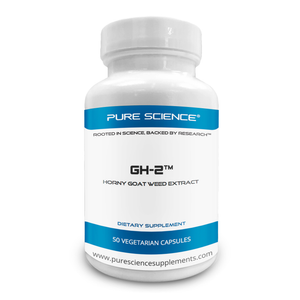 Pure Science GH-2 - Horny Goat Weed (Epimedium) Extract - Contains 20% Icariins with 50 capsules per bottle
