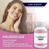 Hyaluronic Acid - 60Mg with MSM 460Mg Per Cap - 50 Vegetarian Caps