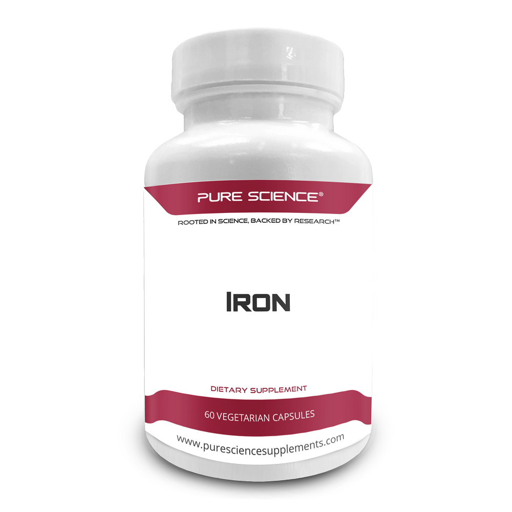 Iron (as Ferrous Sulfate) 65mg with 5mg BioPerine® - 60 Vegetarian Caps