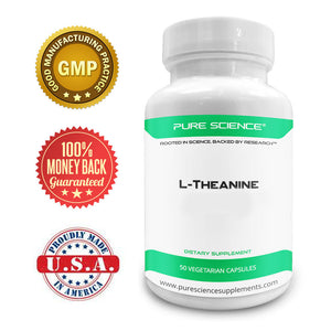 L-Theanine 400mg - 50 Vegetarian Capsules