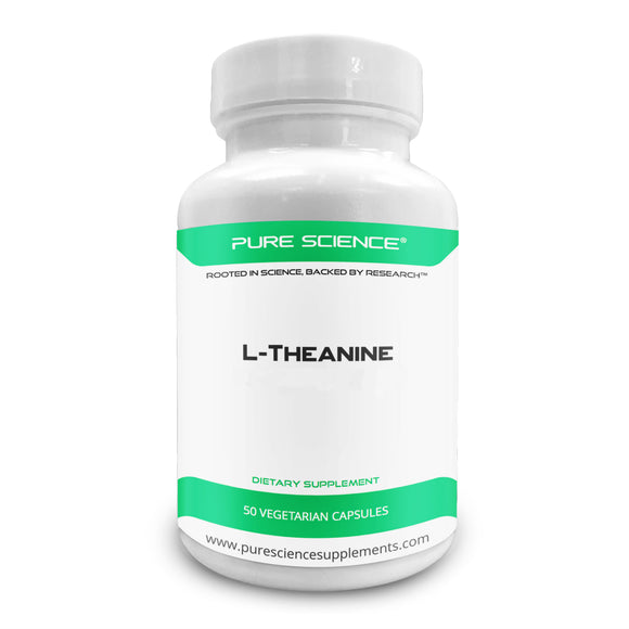 Pure Science L-Theanine Supplement 400 mg – Supports Cognition, Improves Mental Performance and Calms the mind and Reduce stress - 50 Vegetarian Capsules