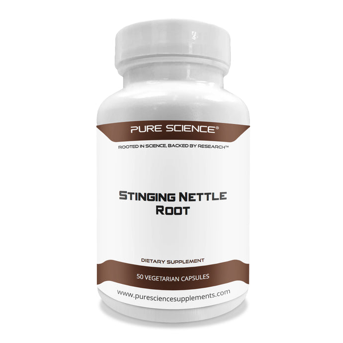 Stinging Nettle Root Extract 500mg (1% Silica) - 50 Vegetarian Capsules