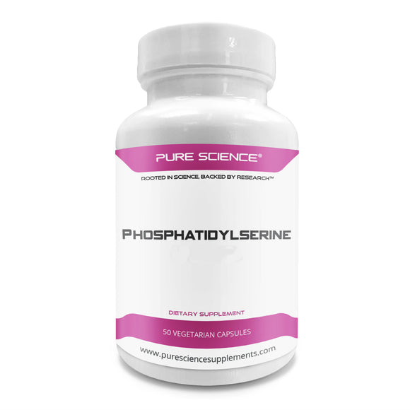 Pure Science Phosphatidylserine 100mg (From Soy Lecithin) – 50 Vegetarian Capsules