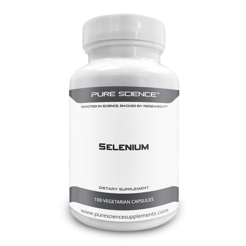 Pure Science Selenium 300mcg with 5mg BioPerine – 100 Vegetarian Capsules