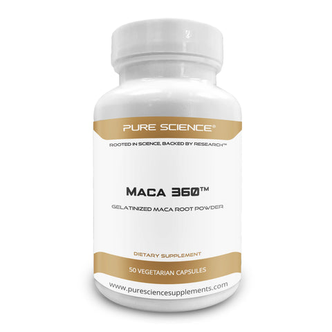Gelatinized Maca Root Powder - 750Mg/Cap - 50 Vegetarian Caps - Pure Science Supplements