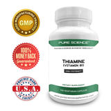 Pure Science Vitamin B1 Thiamine 100mg with 5mg BioPerine®-50 Vegetarian Capsules