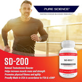 SD-200 Tongkat Ali Pure Extract 200:1 - 400mg/Cap - 40 Veg Capsules