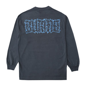 """POWER LOGO"" Long Sleeve T-Shirt (Charcoal)"