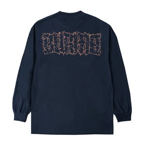 """POWER LOGO"" Long Sleeve T-Shirt (Navy)"