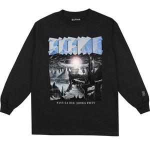 """FIMBULWINTER"" Long Sleeve T-Shirt (Black)"