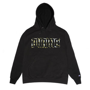 """GOLD LOGO"" Pullover Hoodie (Black)"