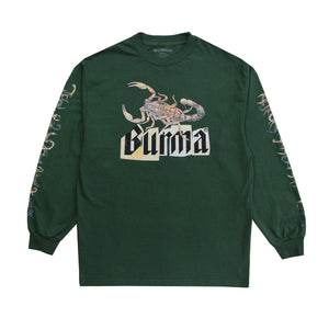"""SKORPION"" Long Sleeve T-Shirt (Green)"