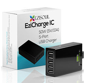 Multi Port USB<br/> <br/>  Charger Provides <br/> <br/> High Power 50W