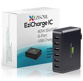 Multi Port USB <br/> <br/>Charger Provides <br/> <br/>High Power 60W