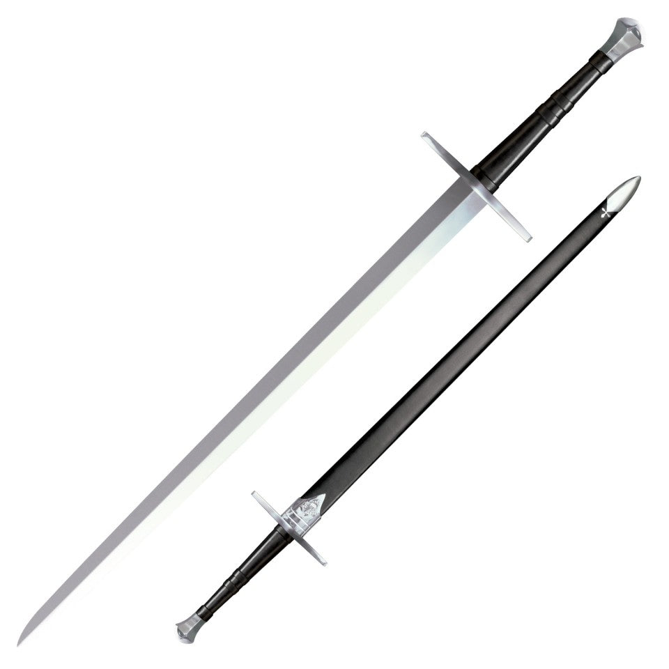 Cold Steel Hand and a Half Bastard Sword, 1060 Spring Steel Live Blade