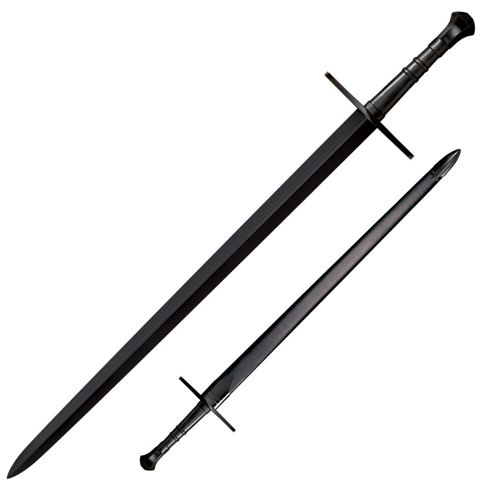Cold Steel MAA Hand and a Half Bastard Sword, 1055 Spring Steel Live Blade