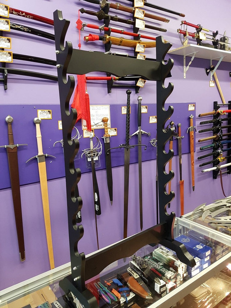8 Sword Floor Display Stand Rack