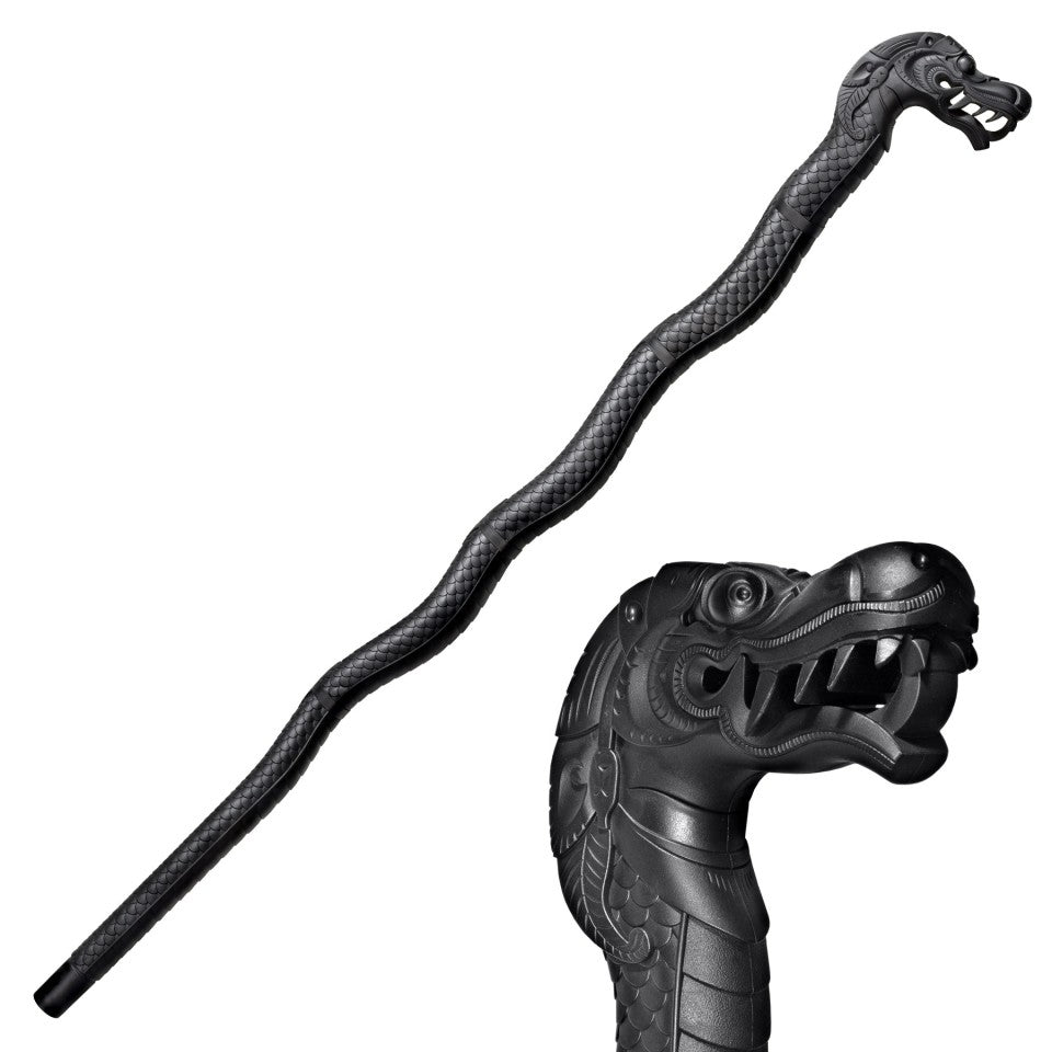 Cold Steel Black Dragon Walking Stick Bartitsu Training