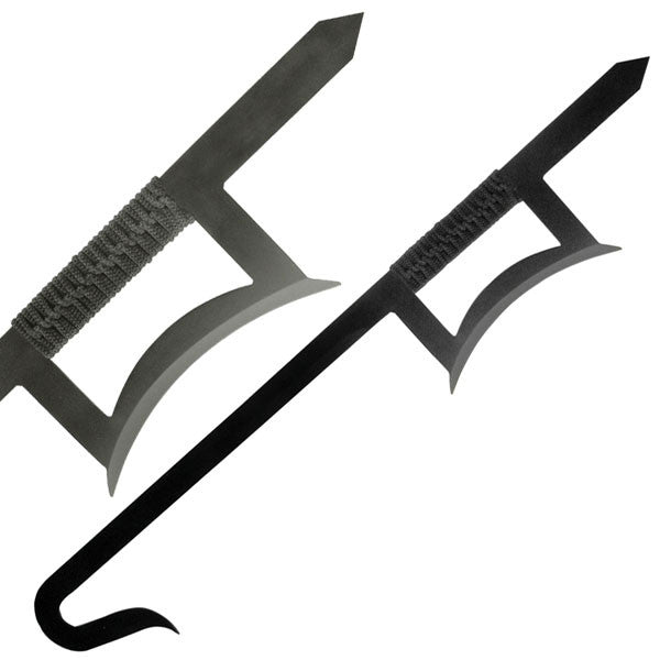 Chinese Hook Swords, Black, Pair