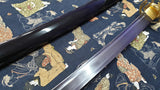 Dragonfly Japanese Samurai Katana Sword Clay Tempered 1050 High Carbon Steel