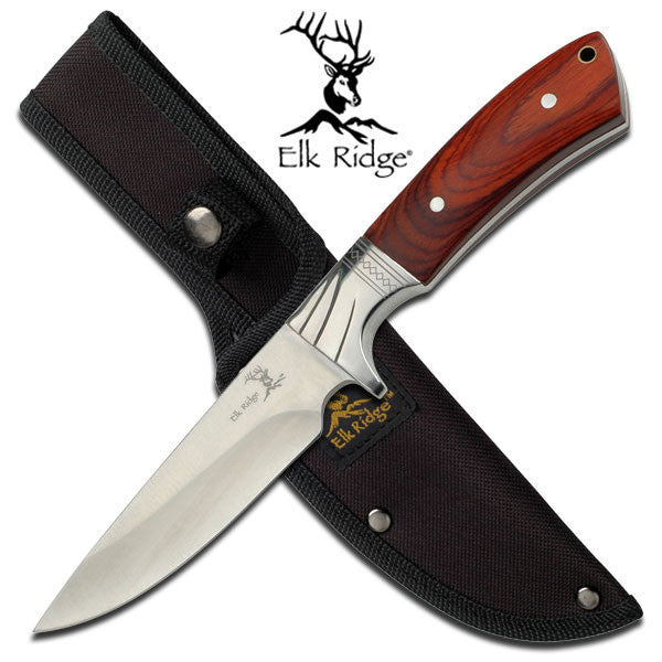 Elk Ridge General Purpose Hunting Survival Knife with Sheath