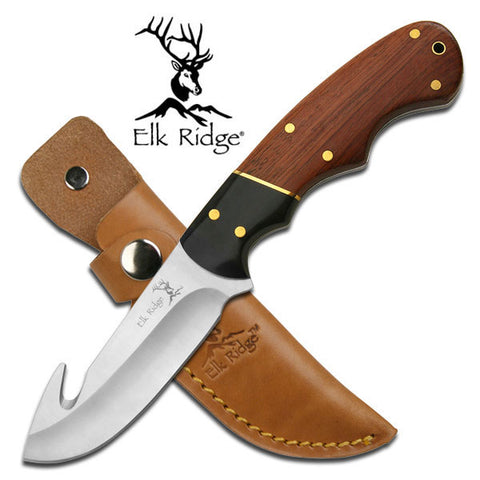 Elk Ridge Two Tone Skinning Knife with Gut Hook